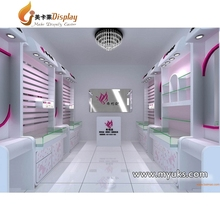 Shop design for cosmetics kiosk display furniture with best price and discount
