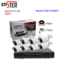 Economical Full Set H.264 1080P AHD 8Channel CCTV DVR Kit NST-AK8201