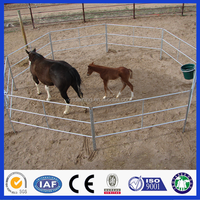 Black Color PVC Coated Galvanized Tube Welded Portable Horse Shelters Fencing