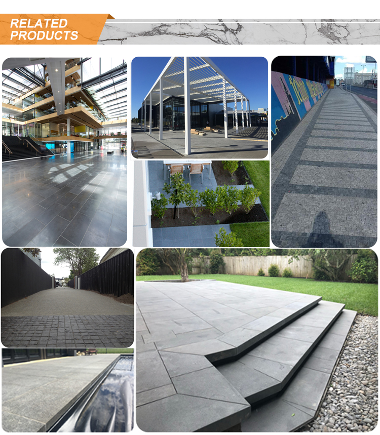 Natural Stone Hainan Black Basalt Paving Stone Cut-to-size Tiles