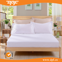 Single size 200 thread count cheap white bed sheet