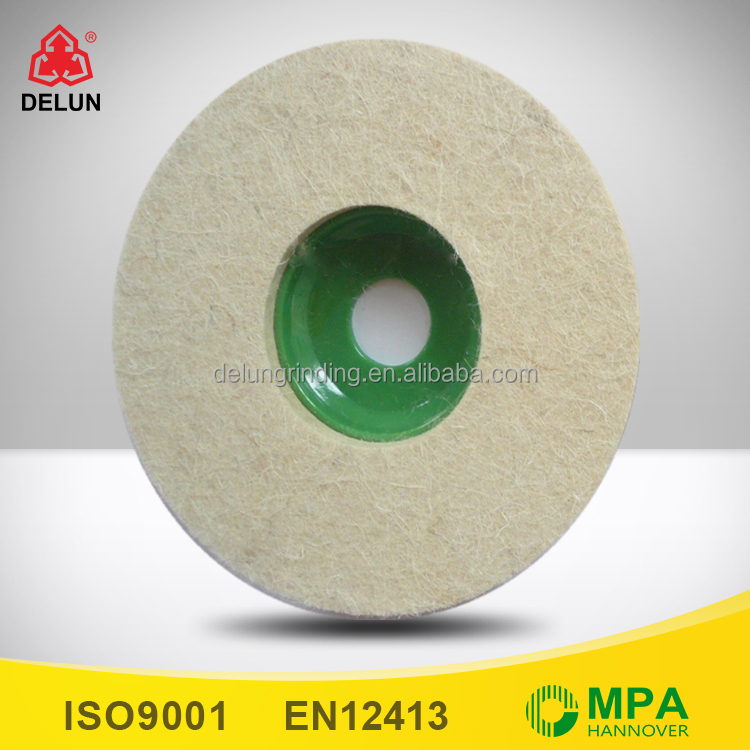 100mm Wool Felt Surface Conditioning Wheel 13mm Thick for Polishing