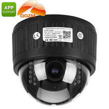4x zoom dome p2p onvif 1.3MP ip camera with sd card slot AP mode infrared