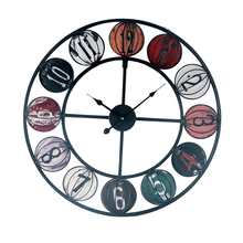 Round Classic Clock Retro Non Ticking Quartz Decorative Wall Clock