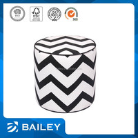 New Arrived Grab Your Own Design Customized Oem Cotton Knitted Stool Round Ottoman Wooden Puff