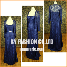 Elegant blue large size women dress formal wedding dress for mother dress factory price