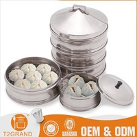 Rice Noodle Food Steamer Pot With Stainless Steel