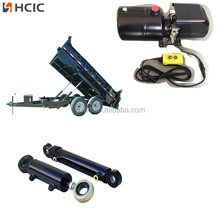 Telescope hydraulic cylinder in tipping system