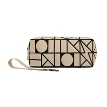Stock wholesale baobao beige color cosmetic pouch and bag
