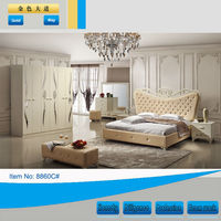 Royal furniture bedroom sets italian bedroom set/golden furniture bedroom set(8860C)
