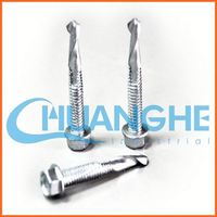 china supplier hex washer head bonded washer reduce point self drilling screw