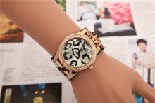 European Style New Model Leopard Print Diamonds Lady Customized Women Watches For Fashion