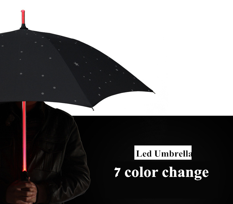 Led light handle umbrella