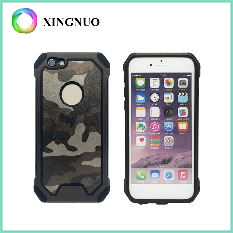 Hybrid Cover Hard Plastic Material Camouflage Phone Case for iPhone 6 6 Plus 6S 6S Plus