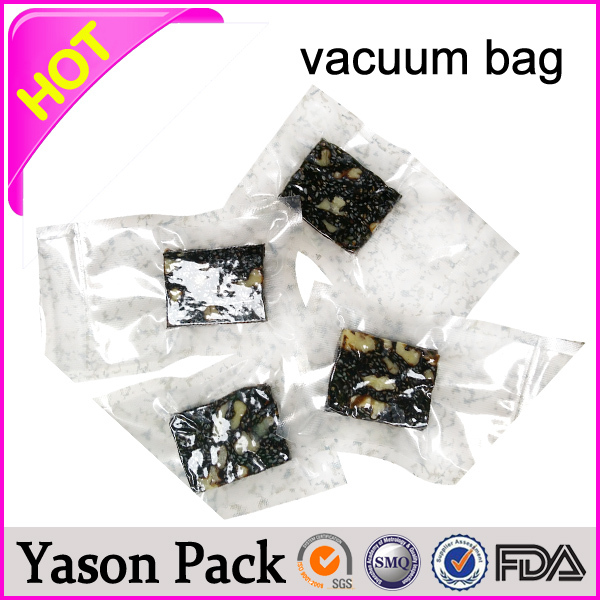 Yason small white embossed/textured vacuum zip lock bag specializing in the wholesale vacuum bags for food frozen food plastic v
