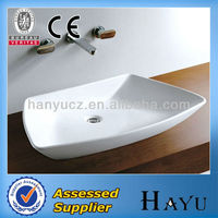 HY-5068 big size new artistic drop in wash basin