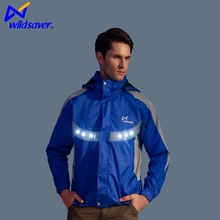Winter sports waterproof green blue outerwear jacket men