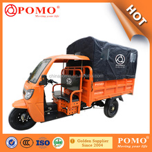 2016 Popular Heavy Load Strong Gasoline Cabin Semi-Closed Cargo Chinese 250CC 3 Wheel Electric Tricycle With Canopy