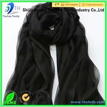 China textile factory spun polyester fabric voile fabric with high quality