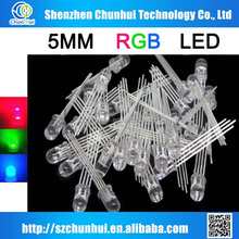 5mm rgb ultra bright led common cathode