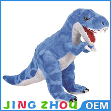 Different types of plush toy blue dinosaur