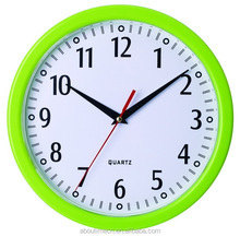 Promotion cheap plastic wall clock/gifts for the elderly country style home decoration