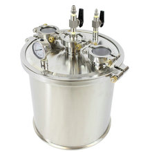 Stainless Steel BHO Extractor Collectin Base with sight glass and pressure gauge for Closed Loop BHO Extractor Kit