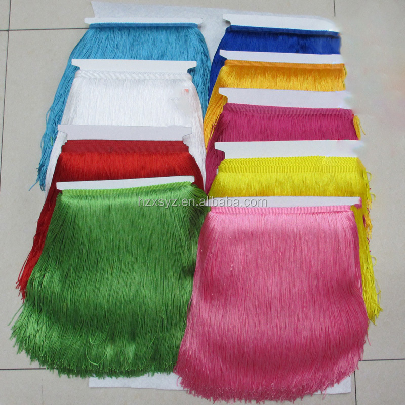 2017 High Quality Rayon Fringe For Dancewear / Skirt Dresses Fringe