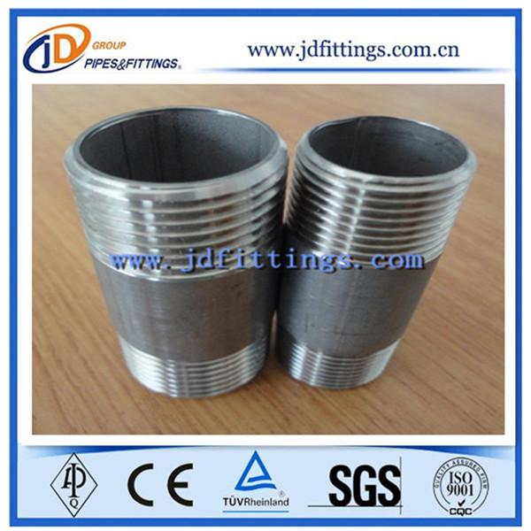 Half pipe nipple stainless steel fittings inch