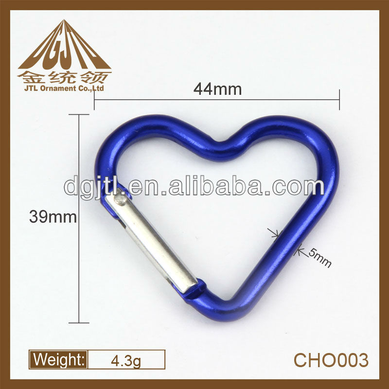 heart shape mini carabiner wholesale