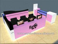Shenzhen supply Kurves brow bar eyebrow kiosk design for shopping mall