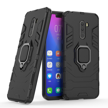 Back cover case for Xiaomi Pocophone F1 magetic phone case with ring holder funtion