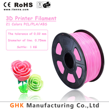 Wholesale china cheap price and high quality OEM ABS / PLA / PCL filament for 3D printer