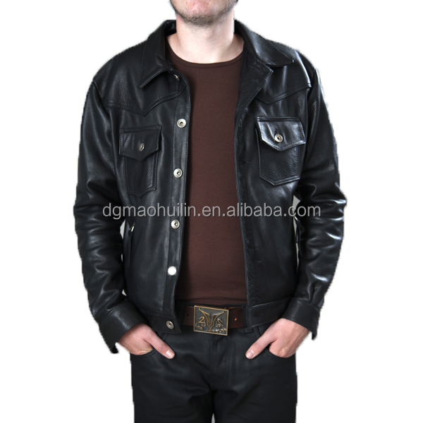 Factory direct clothing men's coat wholesale leather jacket for men