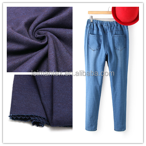 Alibaba china 100 cotton knitting denim garment fabric for jeans