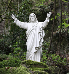 White open hand christ jesus statue for garden decoration