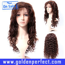 Freestyle indian remy deep wave burmese hair full lace wigs