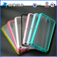 2 in 1 colorful TPU border transparent waterproof pc cases for samsung galaxy note 3
