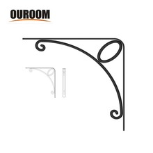 Ouroom wholesale product floating wall wood shelf bracket pattern japanese
