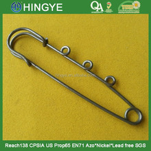 fashion decorative nickle free safety pins with hooks 15533