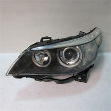 Auto replacement parts ange eyes head lamp for BMW E60 193 194 head light