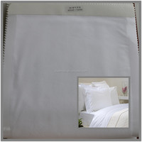 plain cotton sheets fabric for hotel bedding