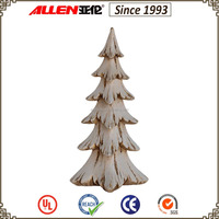 "15.2"" cheap fiber resin wood finish artificial christmas tree for sale"