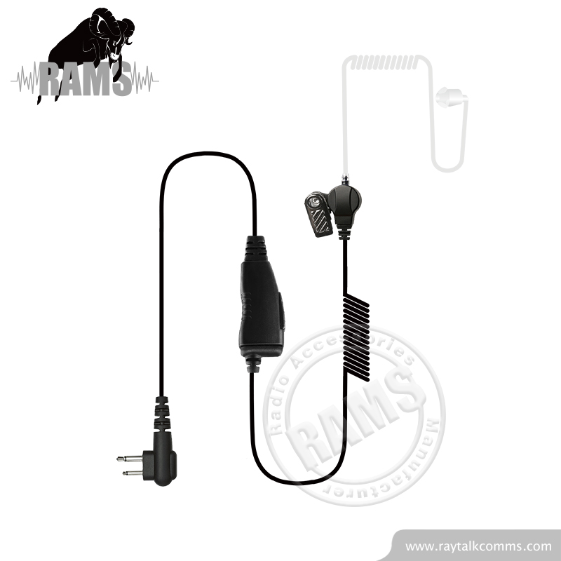 Coiled Cable Surveillance Clear Tube Spy Headset Earpiece