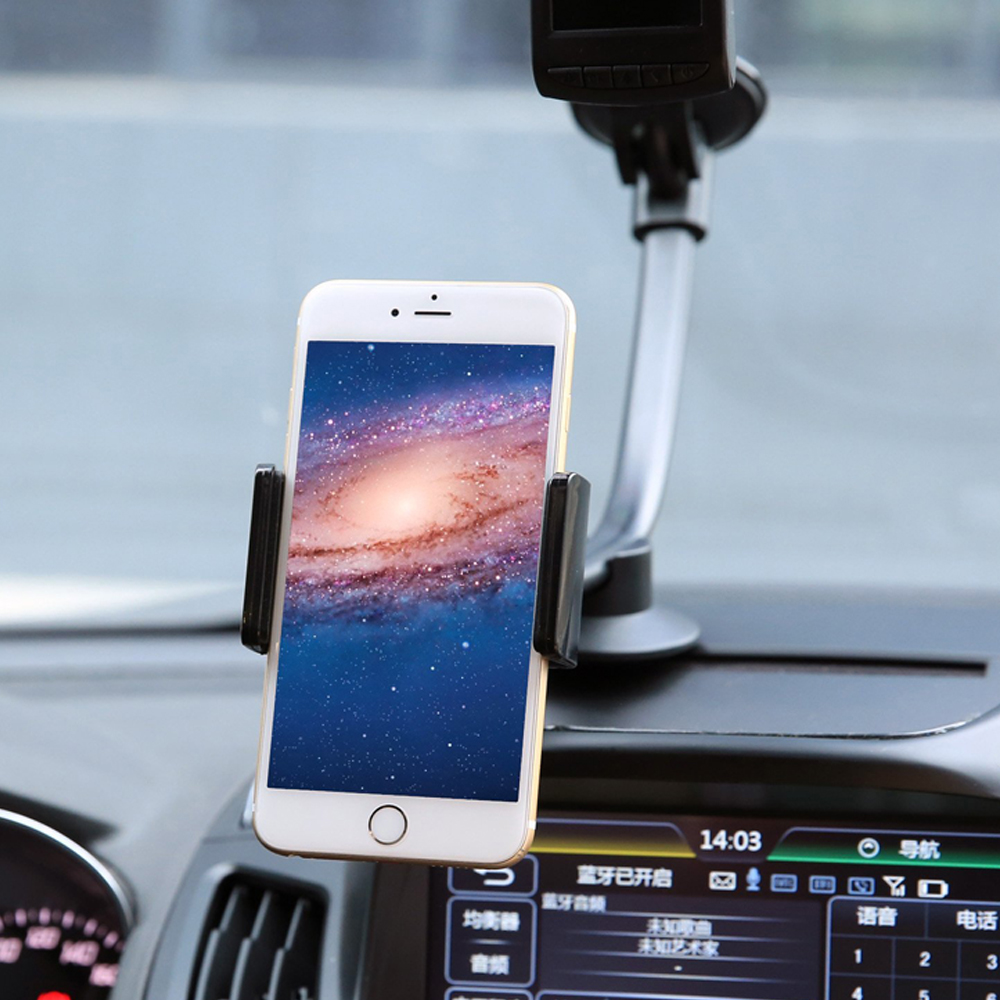 Universal Phone Car Mount Holder With Flexible Long Arm