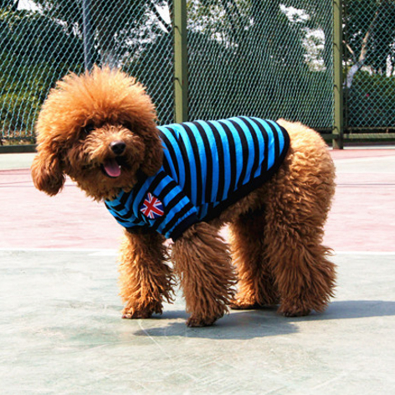 Wholesale fashional dogs T-Shirts 5 colors classic stripe dog clothes