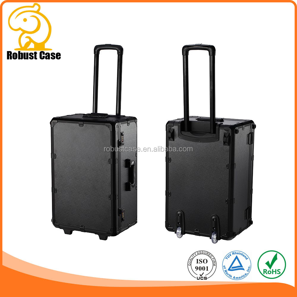 Factory Price Aluminum carrying case With Wheels and customized foam