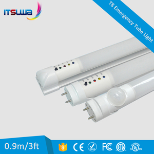 2ft 3ft 4ft 5ft 6ft LED emergency tube rechargeable battery T8 direct replacement, tube light up automatically