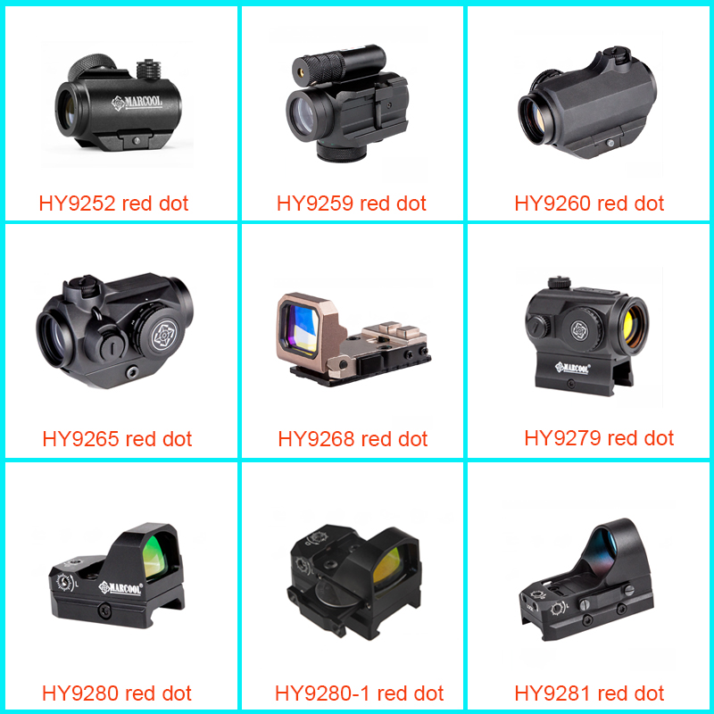 Factory price Hunting optical military red dot sight with 4 Reticle & 3 Sides Rail