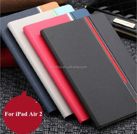 Mix color leather case with card slot Custom printed case for IPAD5